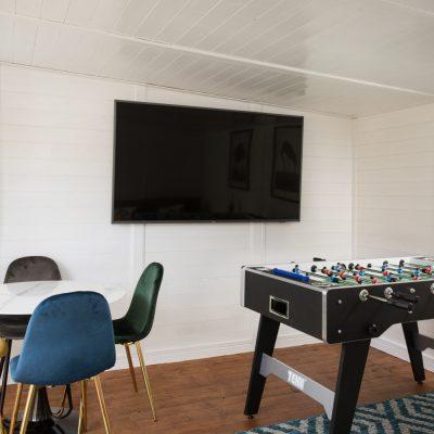 Track Shack - Entertainment Room - TV, Table Football