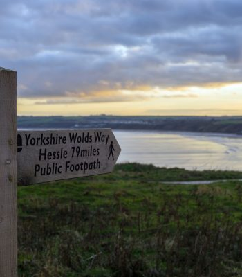 Signpost Yorskshire Hessle Walks IIn Filey